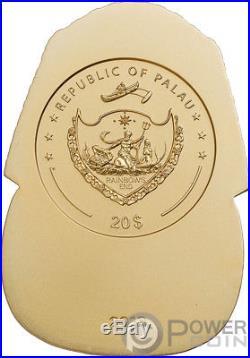TUTANKHAMUNS MASK Shaped 3 Oz Silver Coin 20$ Palau 2018