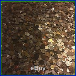 Ten 10 Full Lb Pounds Foreign Coins Old Unsearched World Money Lot Silver