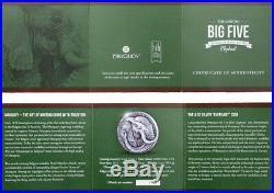 The Elephant Big Five Mauquoy Haut 2017 5 Oz High Relief Pure Silver Ivory Coast