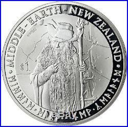 The Hobbit an Unexpected Journey 6 x 1 OZ 2012 SILVER PROOF COIN SET 6 x NZ $1