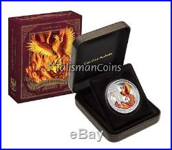 Tuvalu Perth 2013 Mythical Creatures 3 Phoenix $1 Pure Silver Dollar Proof