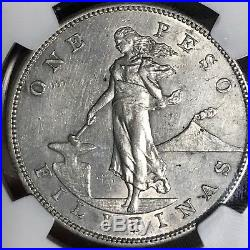 Us Philippines One Peso 1906-s Key Date Ngc Au Details Surface Hairlines