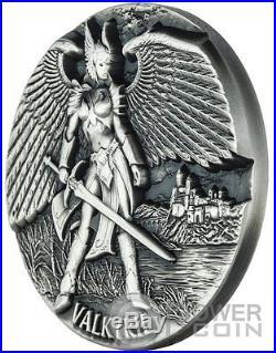 VALKYRIE Legends of Asgard Max Relief 3 Oz Silver Coin 10$ Tokelau 2016