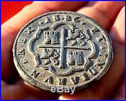¡¡ VERY RARE! 8 REALES OF PHILIP II. MINT SEGOVIA (Spain) YEAR 1586. KEY DATE