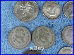 Vintage World Silver Coin Lot 1941-1969 12 Uncommon Silver Coins