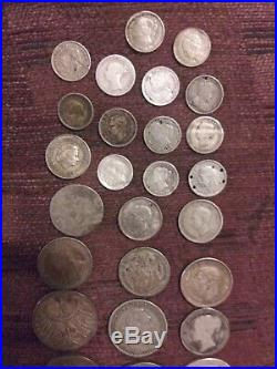 Vintage World Silver Foreign Coin Lot! Nice Assorted Mix Of Coins