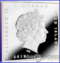 WHISTLER MOTHER James McNeill Treasures of World 1 Oz Silver Coin 1$ Niue 2019