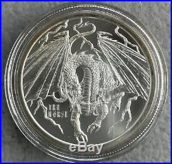 WORLD OF DRAGONS Full Set of 6 BU 1 oz silver. 999 Coins / Rounds