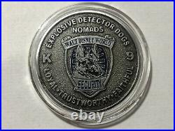 Walt Disney World Security Explosive Detector Dogs K9 Nomads Silver Coin Rare