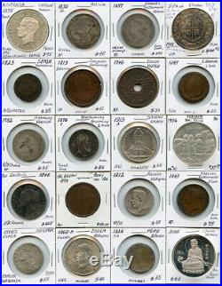 World MIX Coins 1500's-1900's Issue 20 World Coins Collection Rare & Nice Lot