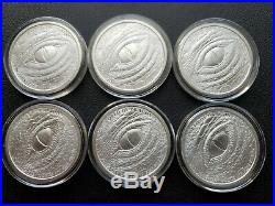World Of Dragons All 6 Silver Rounds Aztec Welsh Chinese Norse Egyptian Indian