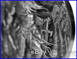 YMIR Legends of Asgard Max Relief 3 Oz Silver Coin 10$ Tokelau 2017